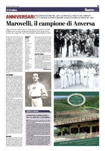 Marovelli il campione di Anversa